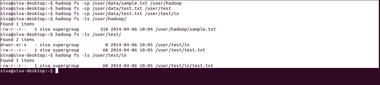 HDFS File System Commands - Hadoop Online Tutorials