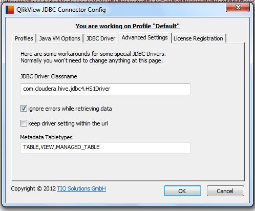 JDBC driver classname